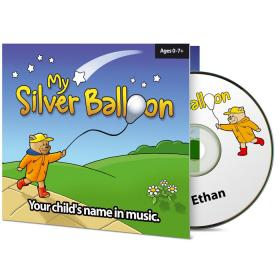 Personalised Baby Name Silver Balloon Nursery Music CD Album One