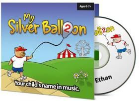 Personalised Baby Name Silver Balloon Nursery Music CD Album Two