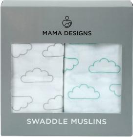 Mama Designs Super Soft 100% Cotton Large Muslin Swaddles