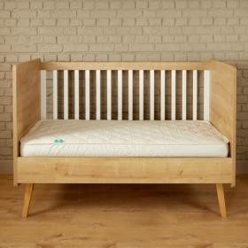 COT BED SIZE 100% hypoallergenic and natural.  mattress protector
