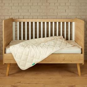 COT SIZE 100% hypoallergenic and natural.  Duvet