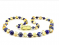 Healing Amber with Lapis Lazuli 33cm for Children